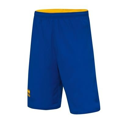 Errea Basketbalshort Double Chicago Blauw Geel