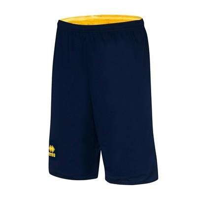 Errea Basketbalshort Double Chicago JR Navy Geel