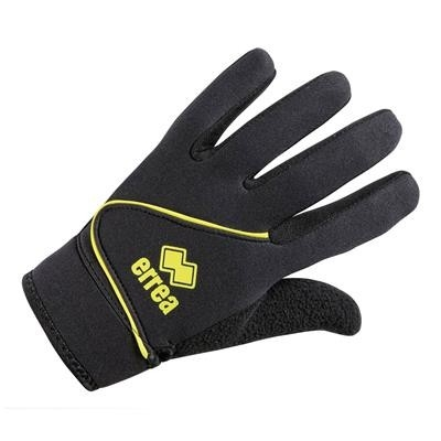 Errea Steel Goalkeeper Gloves Zwart Geel