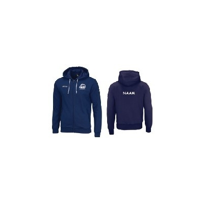 Erreà Wire navy hooded sweater-full zip Basket Sijsele
