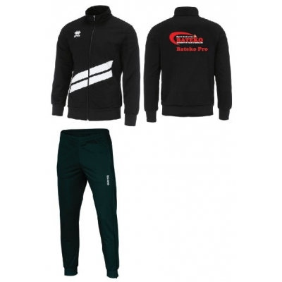 Erreà Jim tracksuit (zw/wit) jun/kids Bateko Badminton
