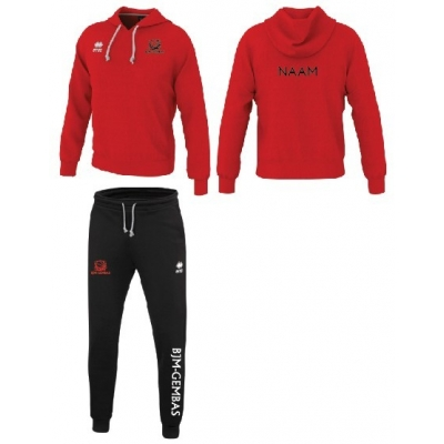 Erreà Warren3.0 sweater rood /Denali broek set - BJM-Gembas