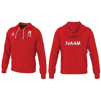 Erreà Warren3.0 hooded sweater-rood  kids- volley De Haan