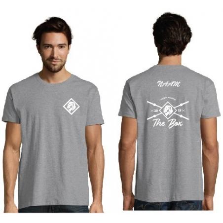 T-shirt The Box-heren-grijs
