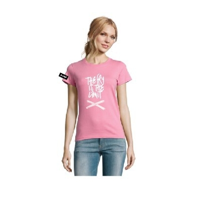 Kjell&Yane t-shirt-women round neck-pinck-The Fry is the Limit