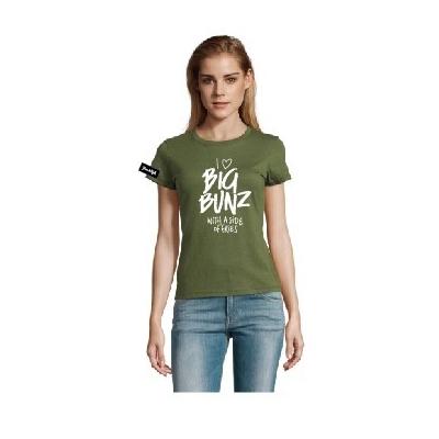 Yane&Kjell t-shirt-women round neck-green-Big Bunz